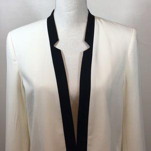 Open Front Tuxedo Jacket Fully Lined